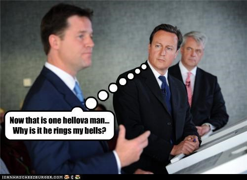 Now that is one hellova man... Why is it he rings my bells?