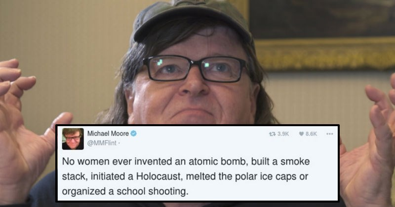 Michael Moore gets silenced on Twitter after his sexist tweet.