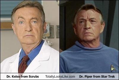 actors dr-kelso dr-piper scrubs Star Trek - 4901603328