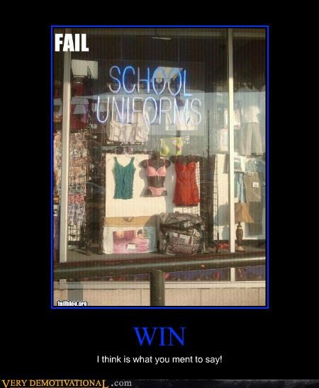 FAIL Pure Awesome school uniforms win - 4902086656