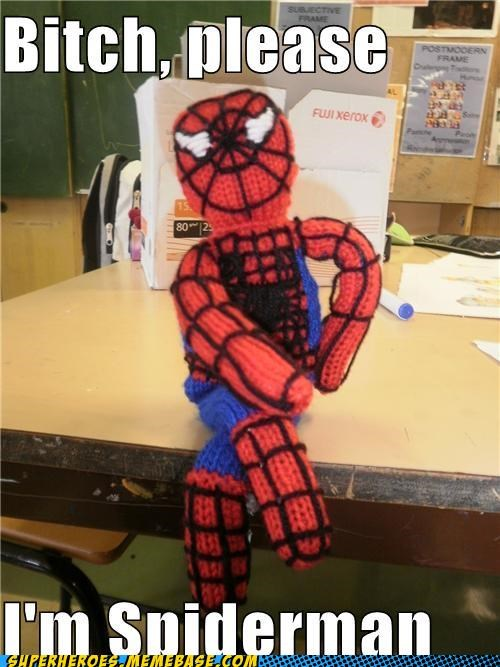 cute knit Plush Spider-Man Super-Lols