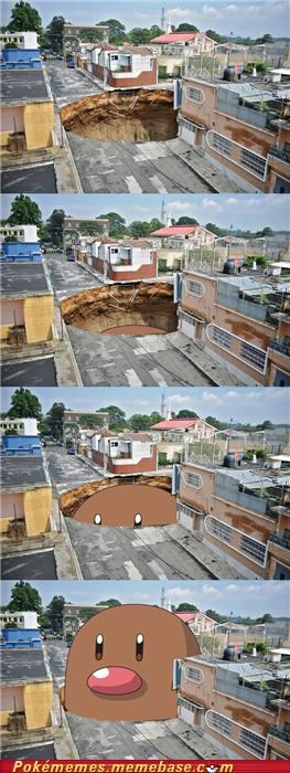 diglett IRL Photo sink hole - 4902624256
