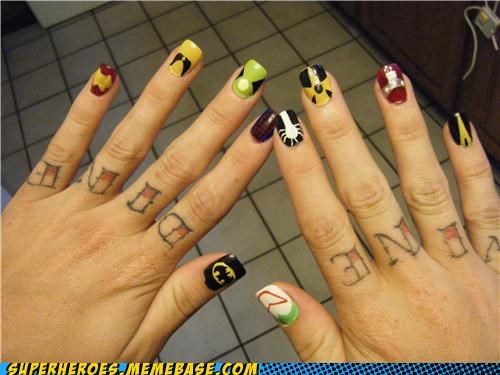 finger nails,logos,nail polish,Random Heroics