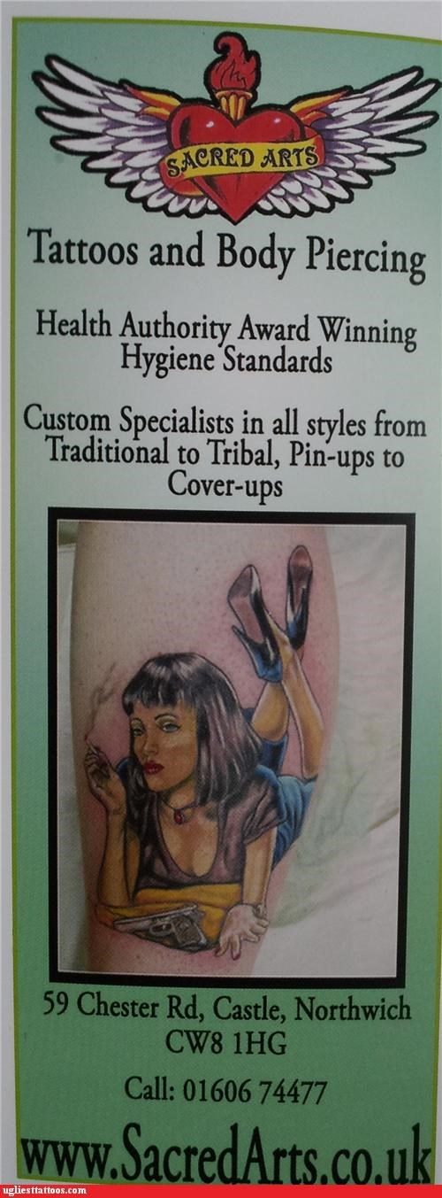 ads,pulp fiction,tattoo parlors