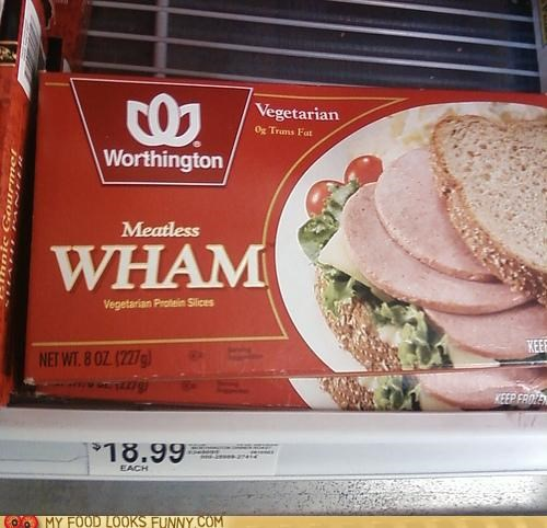 fake meat George Michael meatless package rap vegetarian wham wrap