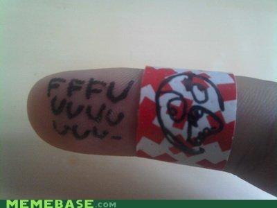 cut,fffuuu,finger,rage,Rage Comics