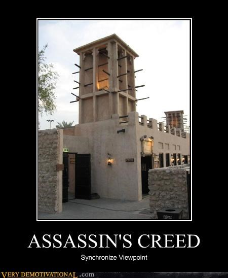 assassins creed,hilarious,synchronize,video games