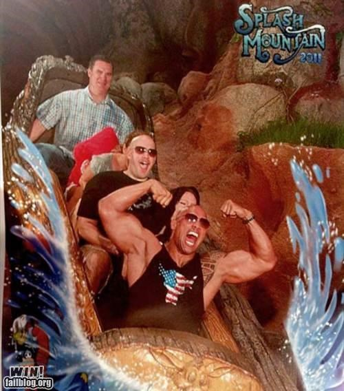 amusement park,splash mountain,the rock