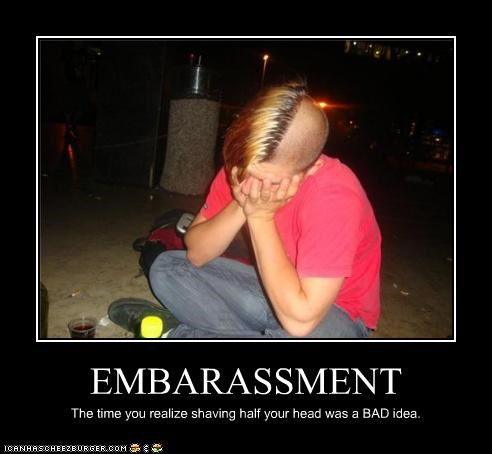bad idea facepalm haircut hipsterlulz shaved head - 4903405824