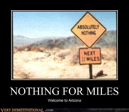arizona hilarious miles sign wtf - 4903735296