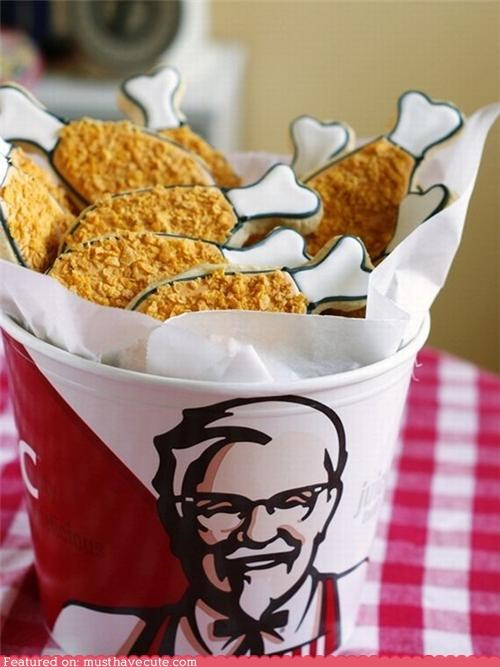 chicken cookies corn flakes drumsticks epicute Kentucky Fried Chicken kfc legs - 4903847680