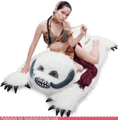furry Plush rug star wars wampa - 4903849216