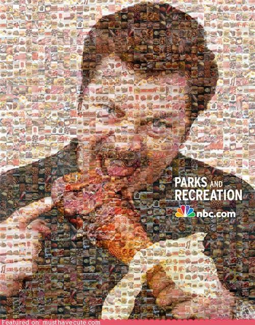 mosaic Nick Offerman parks and recreation ron swanson turkey leg - 4903854848