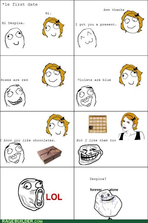 chocolates,first date,forever alone,Rage Comics