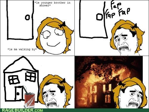 Awkward faptimes Kill It With Fire Rage Comics siblings