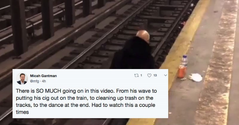 People on Twitter are speechless after this guy takes the cigarette break of a lifetime.