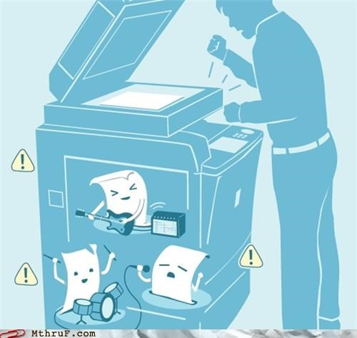 comic jammed printer
