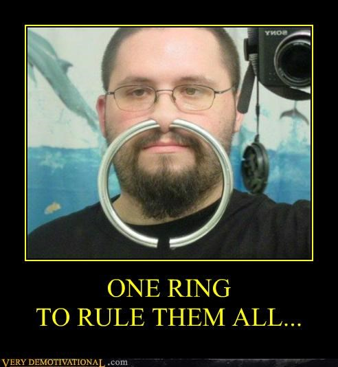 hilarious huge Lord of the Rings nose ring piercing