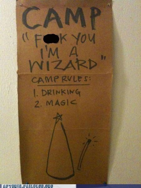 camp Harry Potter magic sign wizard - 4904029952