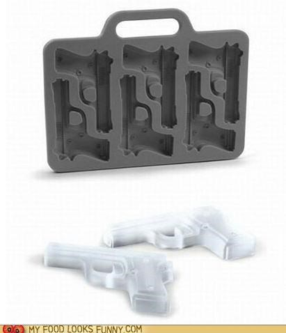 gins handgun ice ice cube trays ice cubes - 4904095744