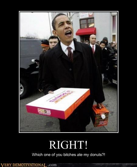 angry,coffee,donuts,hilarious,obama