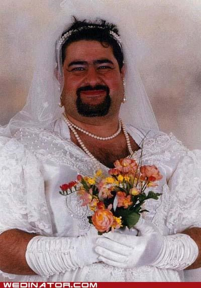 blushing bride,bride,funny wedding photos,Hall of Fame,man,wedding dress