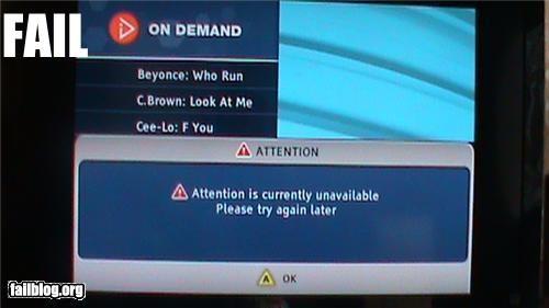 electronics error message failboat g rated TV warning - 4904674304