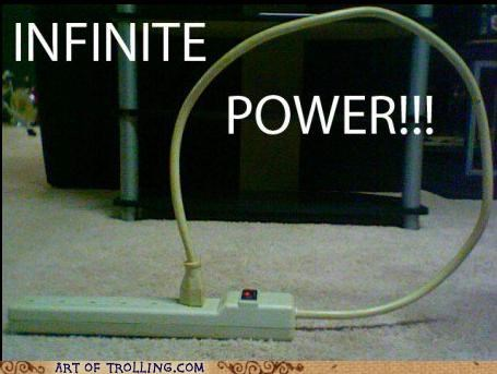 infinite power,power,power strip,troll science