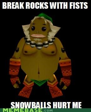 fists gorons link Memes rocks snowballs video games zelda - 4904911872
