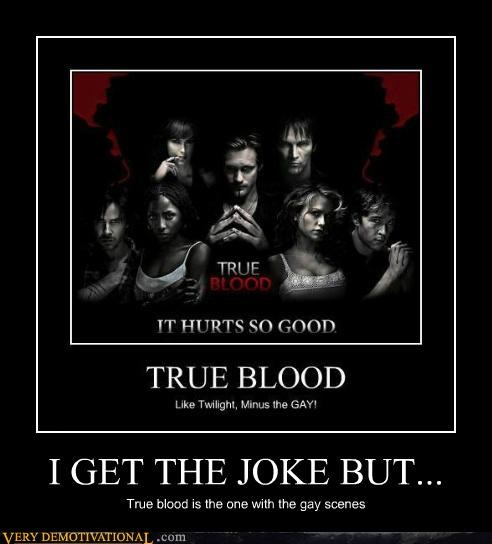 I GET THE JOKE BUT... True blood is the one with the gay scenes