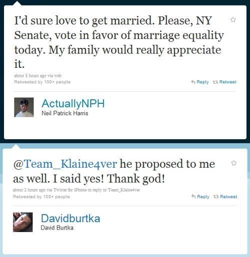LGBT rights new york nph same-sex marriage tweet - 4905635328