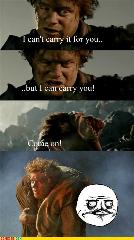 From the Movies,Lord of the Rings,me gusta,rage,samwise