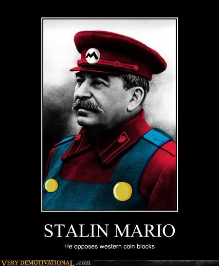 STALIN MARIO He opposes western coin blocks