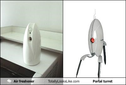 air freshener,funny,game,Portal,portal turret,TLL