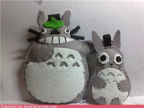 chu totoro DIY felt plushies totoro - 4906562048