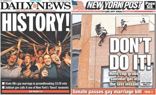 Compare And Contrast front page LGBT rights new york same-sex marriage - 4906849280