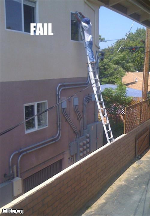 dangerous,failboat,g rated,ladder,Professional At Work