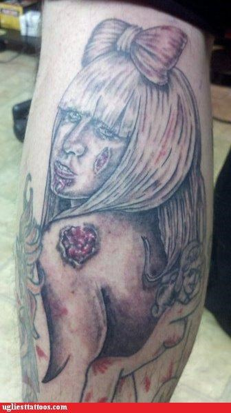Zombie Lady Gaga Tattoo