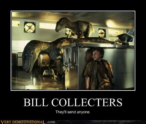 bill collector,hilarious,jurassic park,Raptor