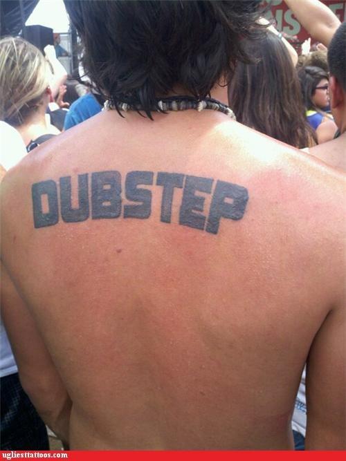 Music dubstep back tattoos - 4908014080