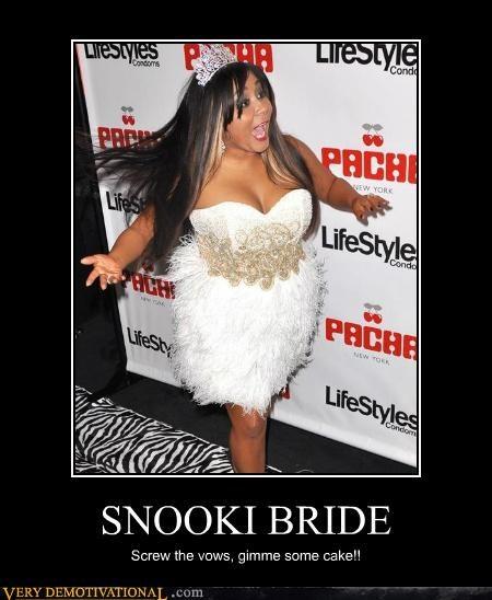 bride cake hilarious snooki wtf