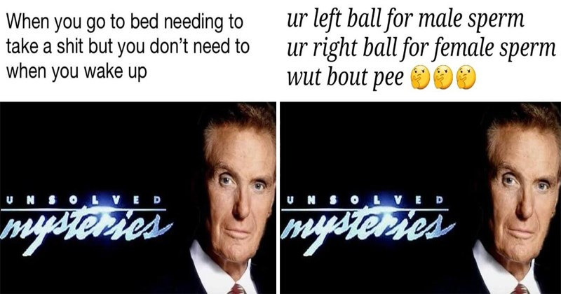 Funny memes, dank memes, unsolved mysteries.