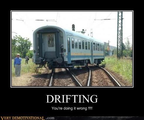 doing it wrong drifting hilarious train - 4908685568