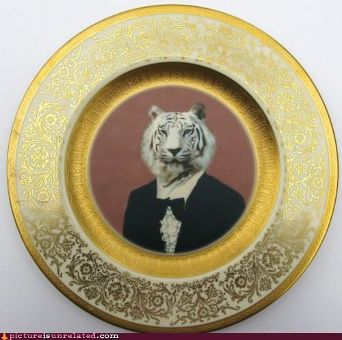 awesome China plate tiger wtf