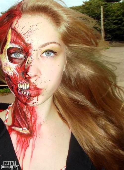 anatomy art artist bone face paint muscles science is rad skills zombie