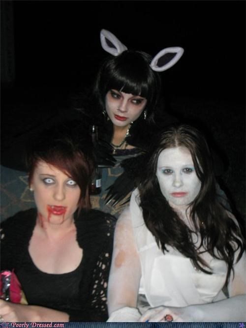 contacts costume rabbit ears vampire