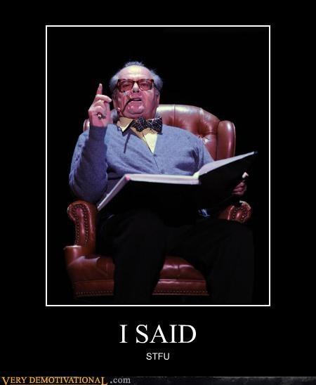 hilarious jack nicholson reading stfu - 4910070784