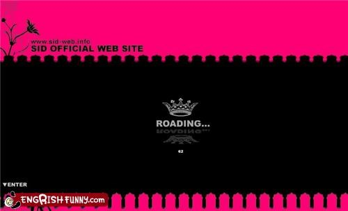Hall of Fame loading roading web site