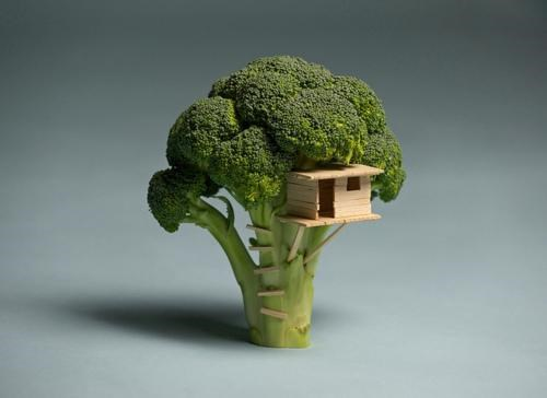 Brock Davis,food art,playing with food