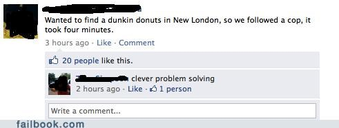 clever girl donuts good idea police